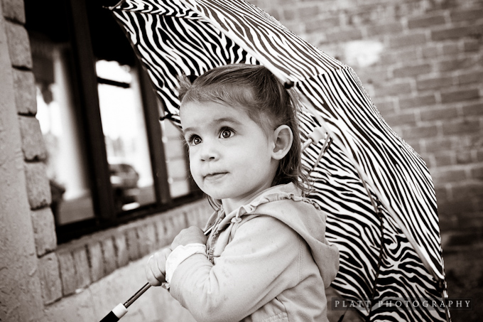 Child Portrait in Chandler Arizona in the Rain