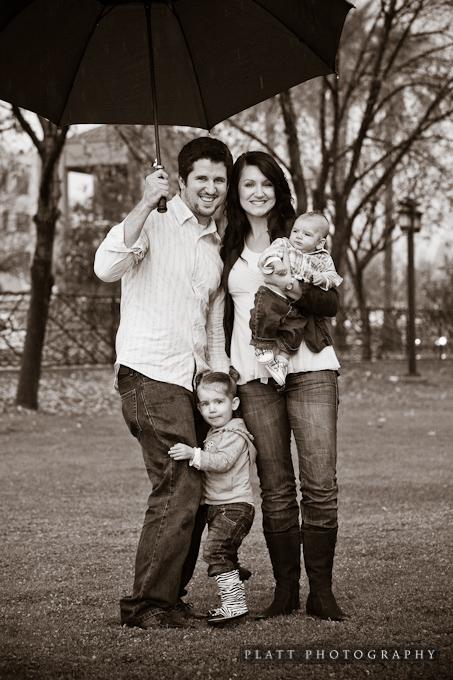 Family Portrait in Chandler Arizona in the Rain