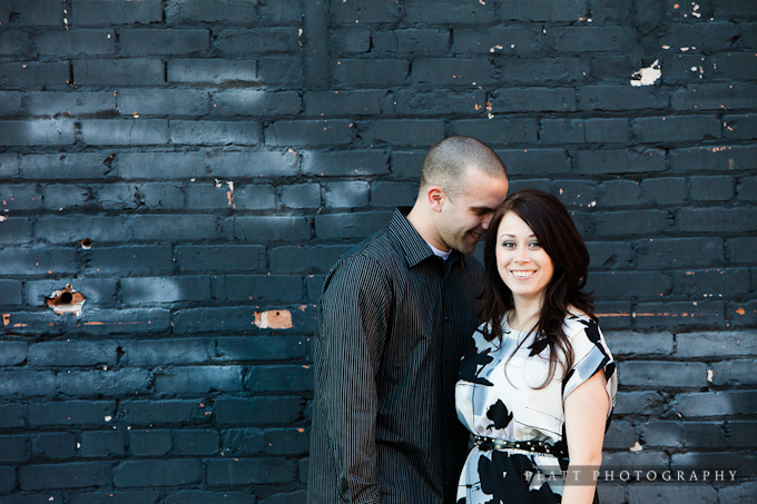 Engagement Portrait in Tempe Arizona on Mill Avenue