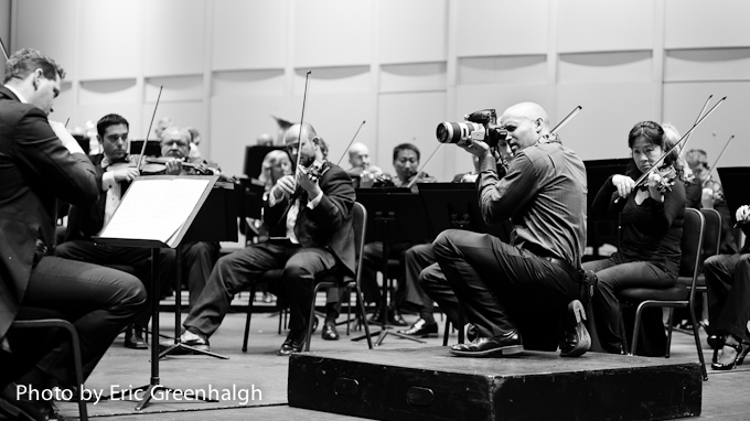 Jared Platt photographing the phoenix symphony