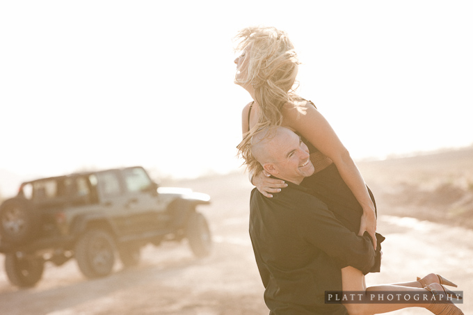 Engagement Portrait in the desert south of Chandler, Arizona