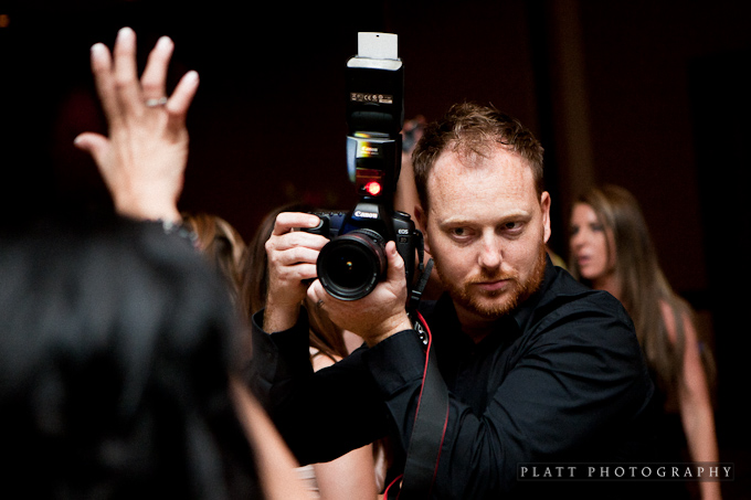Stuart Thurkill shooting a wedding at the Montelucia in Scottsdale, Arizona.