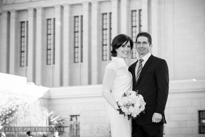 Wedding portrait at the arizona mesa temple