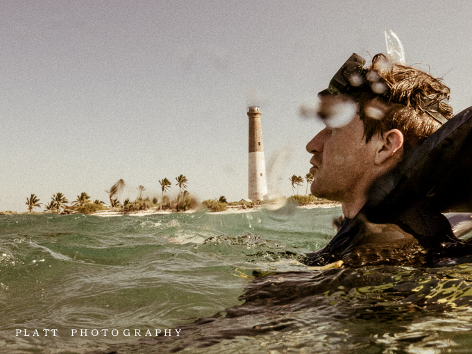 Engagement Portraits in the Gulf of Mexico, of the coast of Key West, Florida by Jared Platt, Platt Photography.